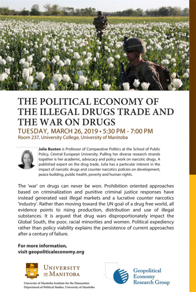 GERG Event – The Political Economy of The Illegal Drugs Trade and the War on Drugs