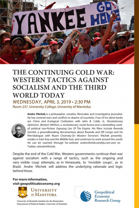 GERG Event – The Continuing Cold War: Western Tactics Against Socialism and the Third World Today
