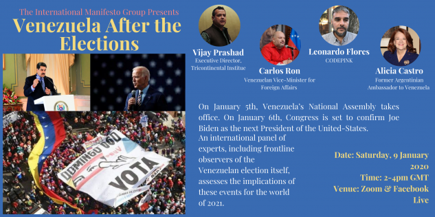 Venezuela After the Elections – Upcoming Event January 9th