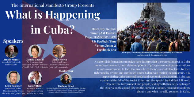 What is Happening in Cuba? July 26 Panel Discussion