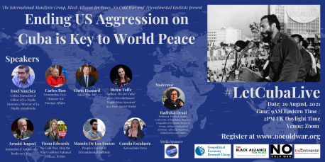 Video – Ending US Aggression on Cuba is Key to World Peace – August 29 International Meeting
