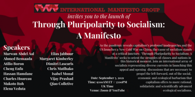 Video of Launch Event – Through Pluripolarity to Socialism: A Manifesto